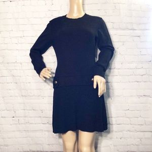 Iz Byer Sweater Dress With Sewn On Faux Belt M